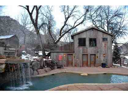 1 night stay for 2 people at Avalanche Ranch Cabins & Hot Springs