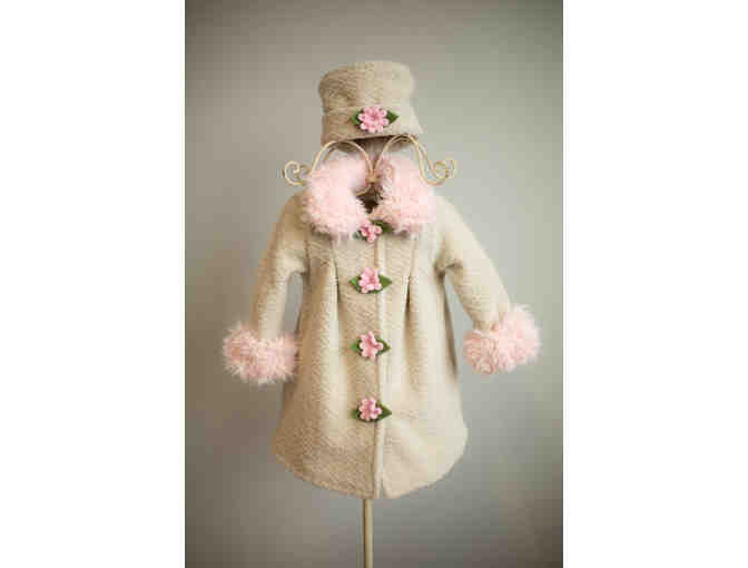 Boutique Child's Coat and Pillbox Hat
