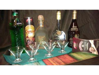 Gourmet Liqueur with Mini Martini Glasses