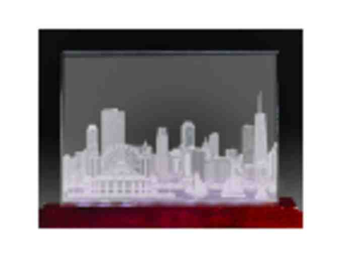 Etched Crystal of Chicago Skyline