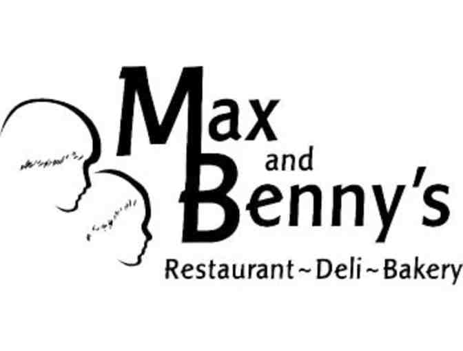 2-Gift Cards for $50 to Max and Benny's - Photo 2