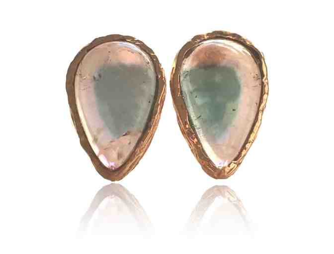 Ashley Morgan Designs - BEAUTIFUL tourmaline sliced earrings