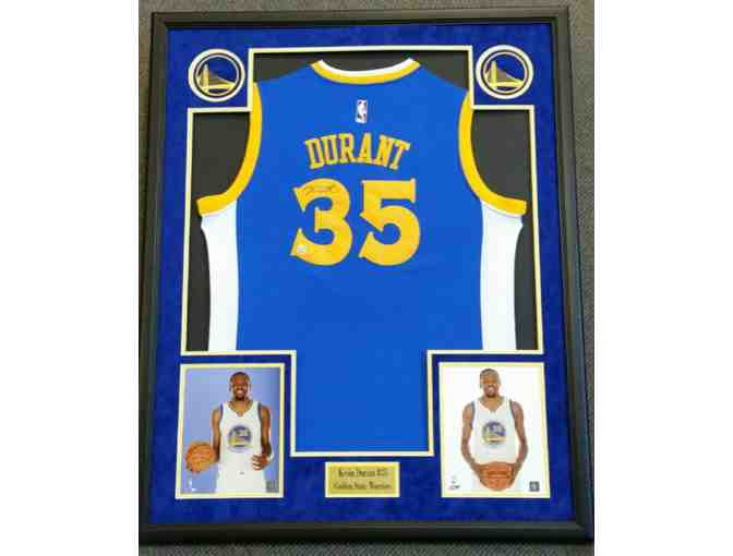 Golden State Warriors: Autographed, framed Kevin Durant Jersey