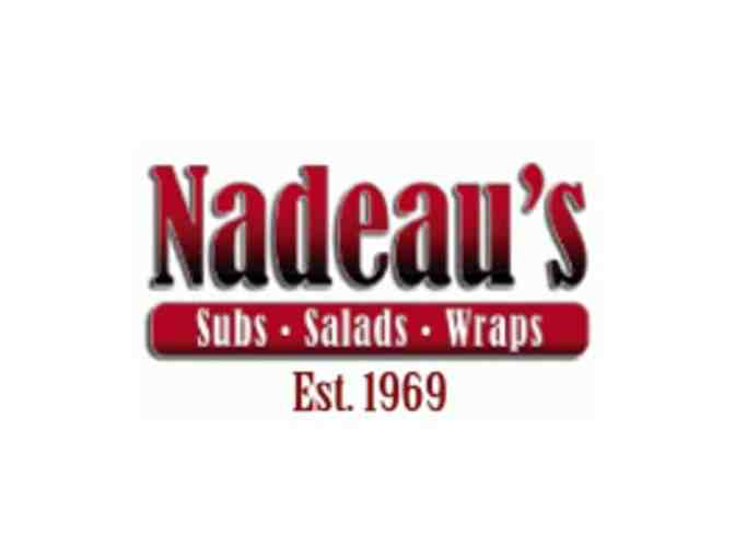 $50 Gift Certificate to Nadeau's Subs (A)