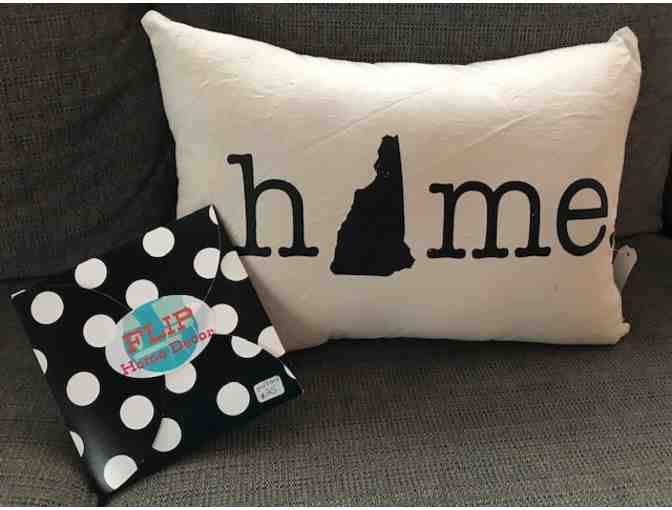 $25 Gift Card to FLIP and NH Home Pillow