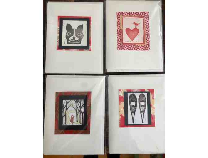 4 Handmade Cards By Anna Birch: Set One