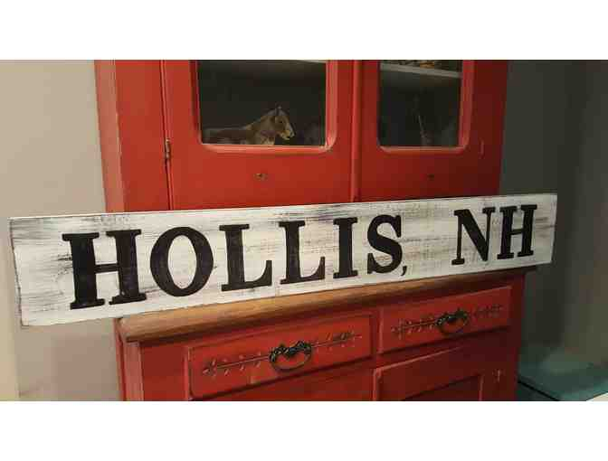 NEW THIS YEAR: A Hollis, NH Sign From The Funky Brush