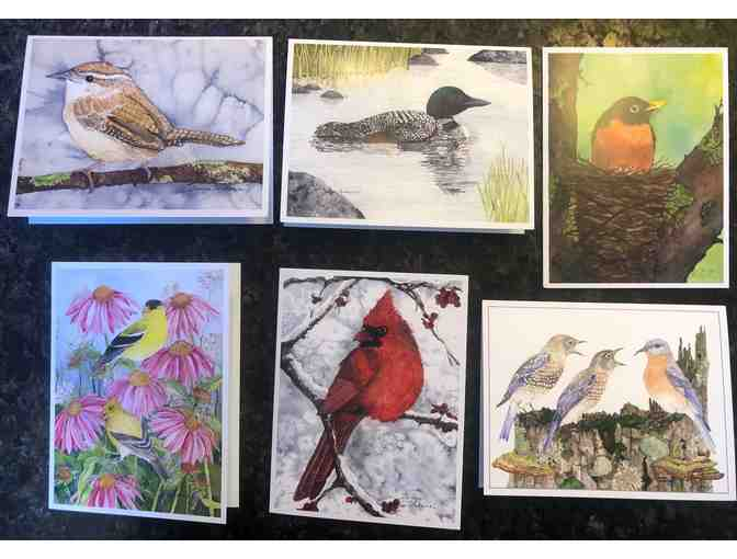 Set of 6 greeting Cards  by Charming Nest Studio :   Birds