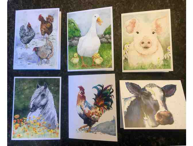 Set of 6 greeting Cards  by Charming Nest Studio: Animals