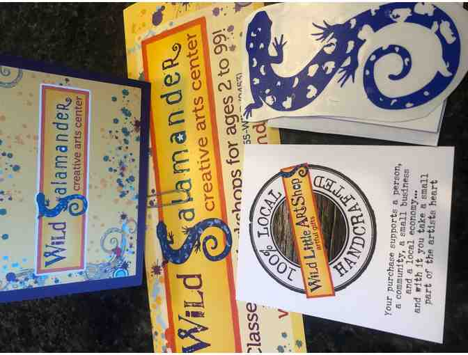 $25 Gift Certificate and Blue Salamander Decal From The Wild Little Art Shop