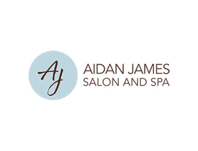 NEW THIS YEAR: $50 Gift Card To Aidan James Salon Spa