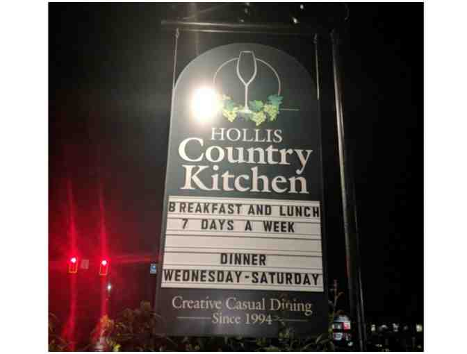 $15 Gift Certificate to Hollis Country Kitchen (B)