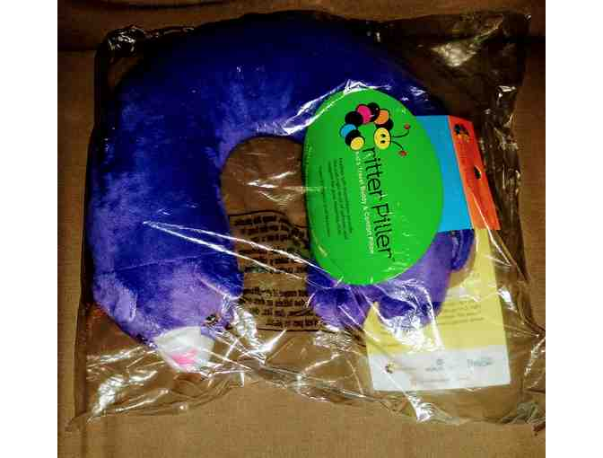 Critter Piller Kid's Travel Buddy And Comfort Pillow: Purple Cat