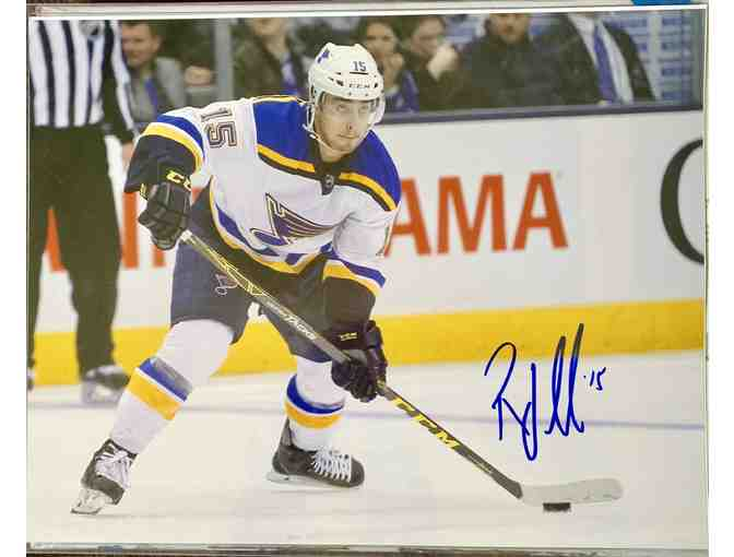 Autographed Robby Fabbri Blues 11x14  Photo