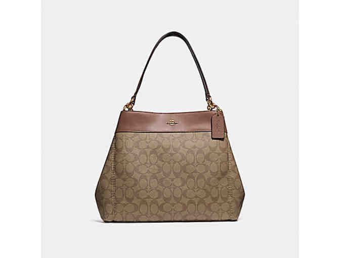 Coach Purse LEXY SHOULDER BAG IN SIGNATURE CANVAS