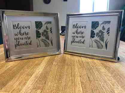 Two (2) Decorative photo frames