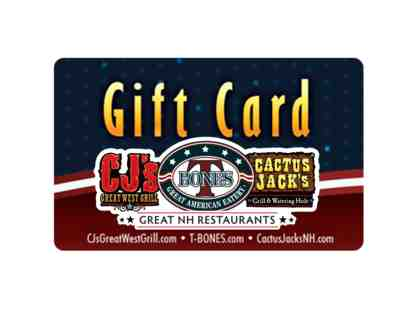 $25 Gift Card to Great NH Restaurants