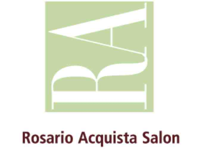 Haircut And Style With Senior Stylist At Rosario Aquista Salon