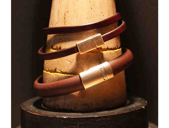 His and Her Leather Bracelets, by Local Jewelry Designer, Missy Brewster