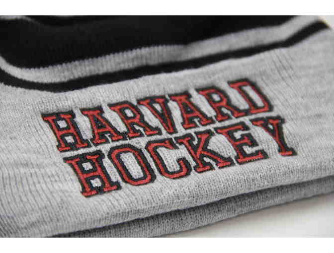 Harvard Hockey Grey Winter Hat