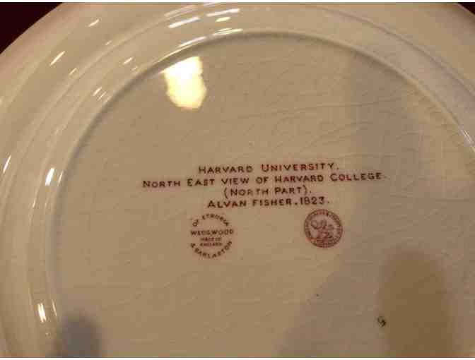 Complete Set of Crimson and White Wedgwood Harvard Plates