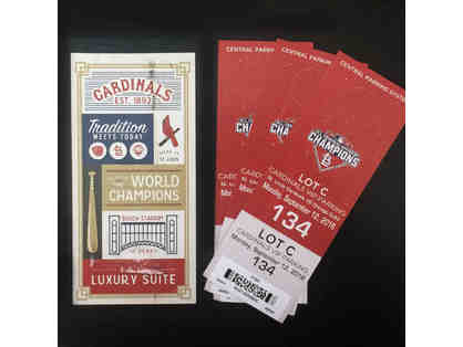 St. Louis Cardinals vs Chicago Cubs - Suite 19