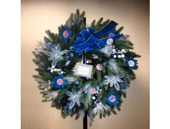 Mike O'Malley Holiday Wreath with autographed Glee script