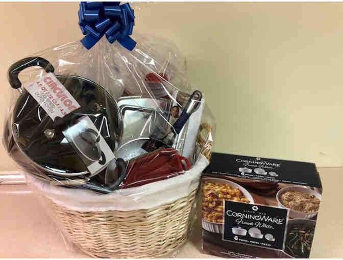 Giant Basket of Cookware , Kitchen Items, and $25 Dave's Gift Card