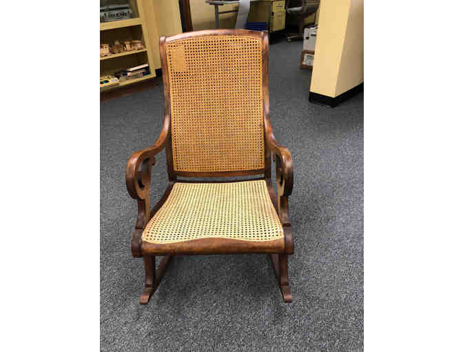 Rocking Chair with Caned Seat & Back