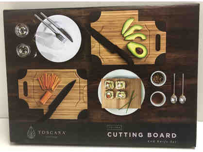 Toscana Cutting Board and Knife Set