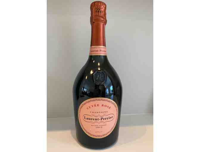 Sip on a sustainably grown and produced Cuvee Rose from Laurent-Perrier
