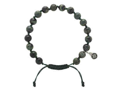 54-Bead Adjustable Wrap Mala & Kambaba Jasper Bracelet