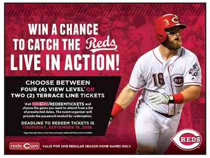 Two Terrace Line or Four View Level Tickets to a Cincinnati Reds Game