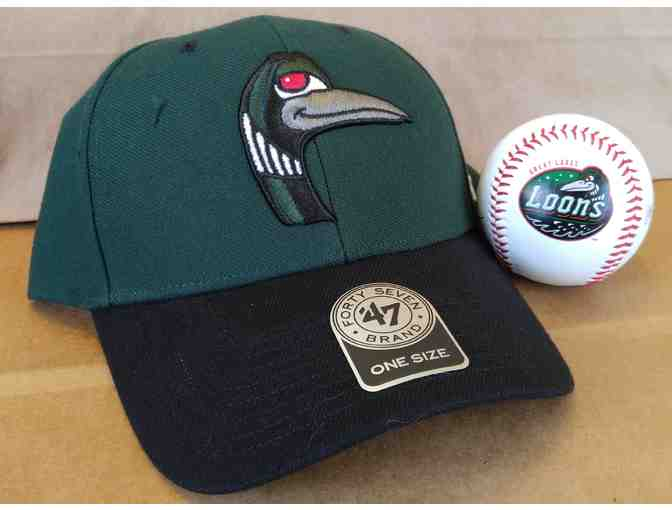 Great Lakes Loons Ballcap and Autographed Baseball