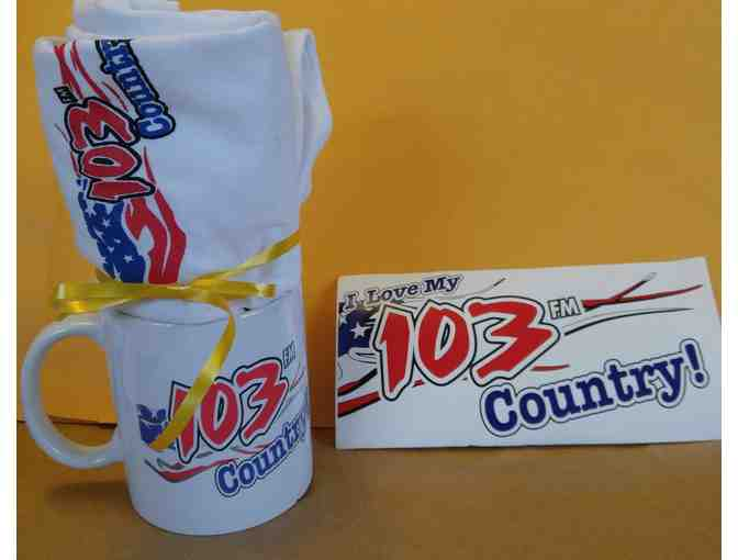 Movie Passes for Two & 103 Country Mug/T-Shirt