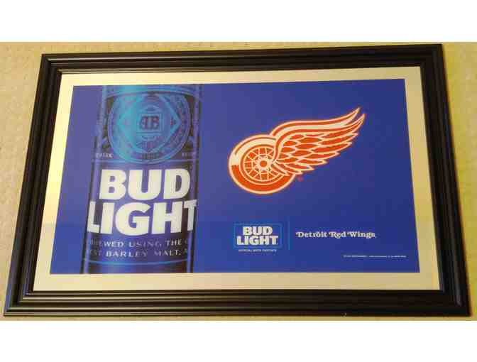 Red Wings - Bud Light Bar Mirror