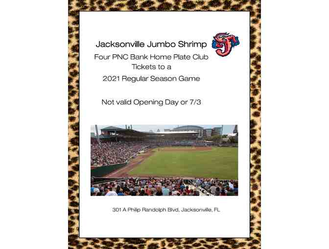 Jacksonville Jumbo Shrimp Four PNC Bank Home Plate Club Tickets - Photo 2