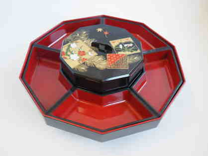 Black and Red Lacquer Lazy Susan