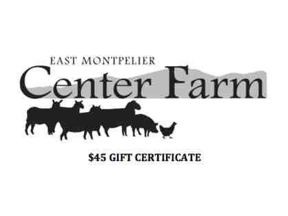 Center Farm $45 Gift Certificate