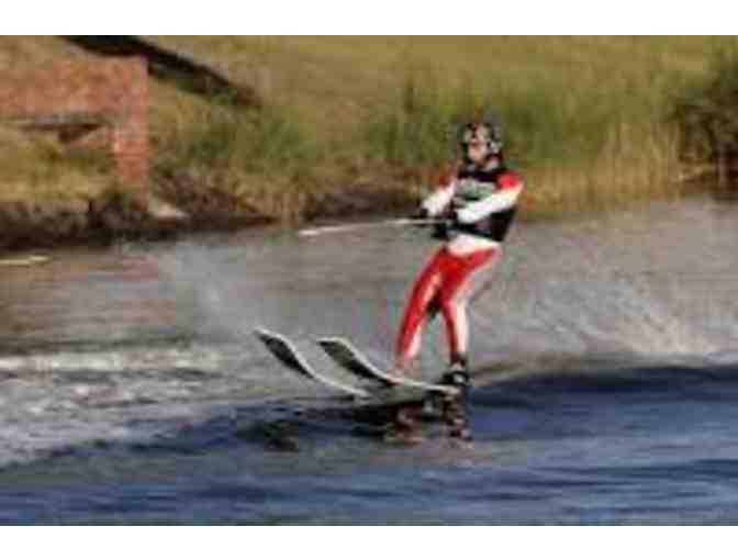 Adult Water Skis, 2 Life Jackets and a Ski Rope - Photo 1