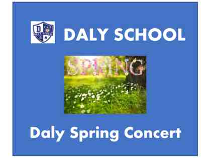 DALY Spring Concert - two front row tickets
