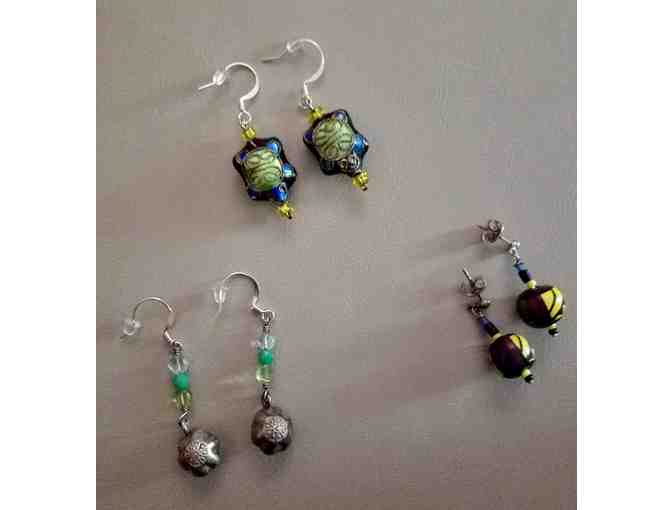 Sharon Barr Jewelry - Three sets of uniquely created earrings