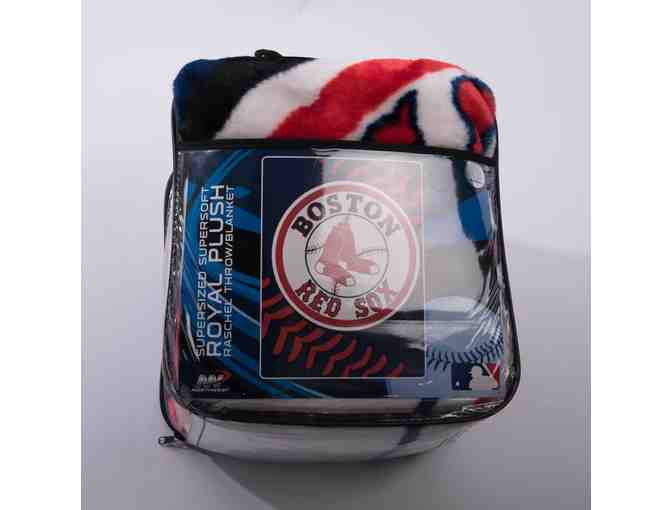 Boston Red Sox Extra Large Plush Blanket - Photo 1