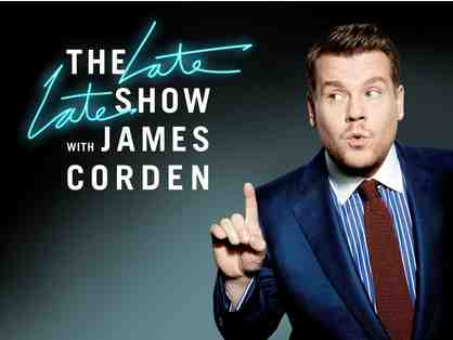 2 VIP tickets to attend a taping of The Late Late Show with James Corden