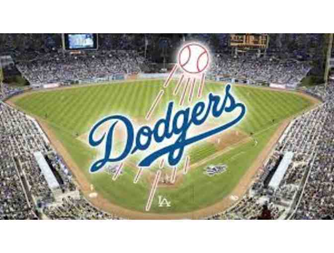 Four (4) MVP Field Level Tickets to a 2019 LA Dodgers game with parking - Photo 1