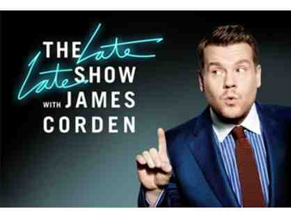Two VIP tickets to attend LIVE taping of The Late Late Show with James Corden