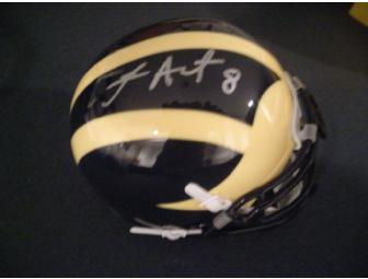 Jason Avant autographed Michigan mini-helmet