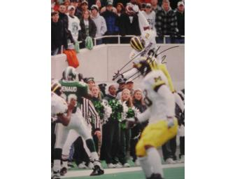 Charles Woodson autographed photograph of 'The Interception' against MSU