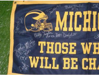'Those Who Stay Will Be Champions' signed by 17 of Bo Schembechler's greatest