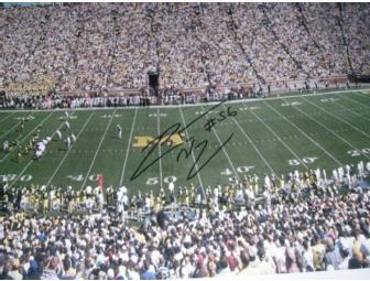LaMarr Woodley autographed oversized photo of the Big House
